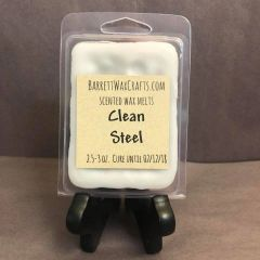 Clean Steel scented wax melt.