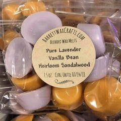 Blended Melts: Pure Lavender + Vanilla Bean + Heirloom Sandalwood