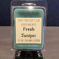 Fresh Juniper scented wax melt.