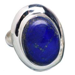 Lapi Lazuli 925 Stefling Silver Ring Size 7.5