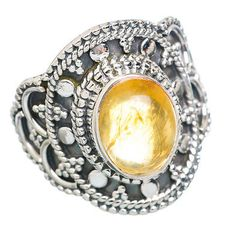 Citrine Ring 925 Sterling Silver Size 7