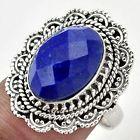 Lapi Lazuli 925 Stefling Silver Ring Size 7