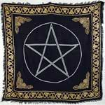 Gold Bordered Pentacle Altar Cloth