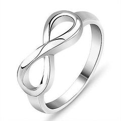 Sterling Silver Infinity Ring Size 8