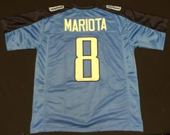 Marcus Mariota Replica Home Titans Custom Stitched XL Jersey