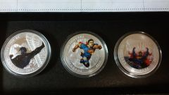 2015 Canadian DC Superman Comic Book Cover Proof Set $20 Silver