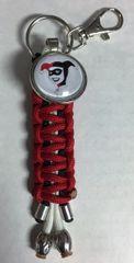 Harley Quinn Handmade (Red) Keychain