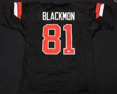 Justin Blackmon Oklahoma State Autographed Jersey AAA COA
