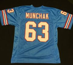 Mike Munchak Replica Home Houston Oilers XL Jersey