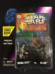 "Star Wars Boba Fett vs IG-88 Figurines and ""Shadows of the Empire"" Comic (1996)"