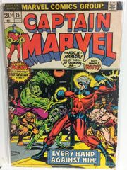 Captain Marvel #25 1973 Comic (G+) (Thanos Saga)