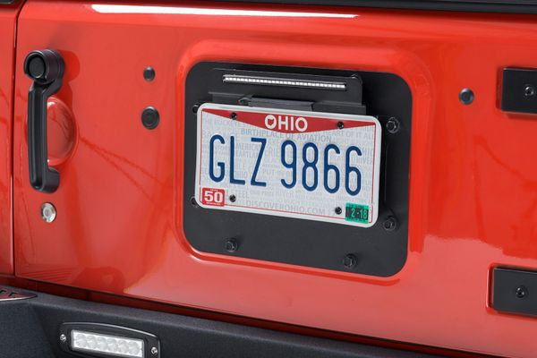 Kentrol Rear Delete BackSide License Plate Mount with LED