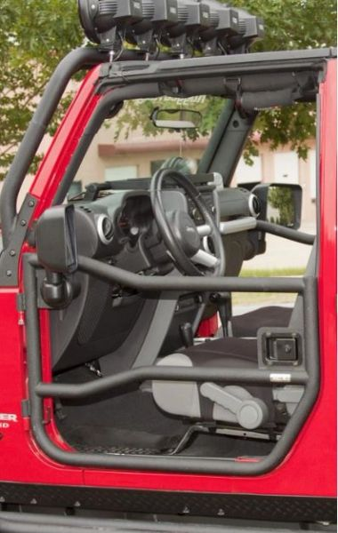 rugged ridge Tube Doors, Textured Black; 07-18 Jeep Wrangler JK