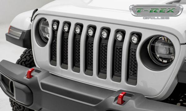 """T-Rex 2018 Jeep Wrangler JL - ZROADZ Series w/ (7) 2"""" Round LED Lights Z314931"""