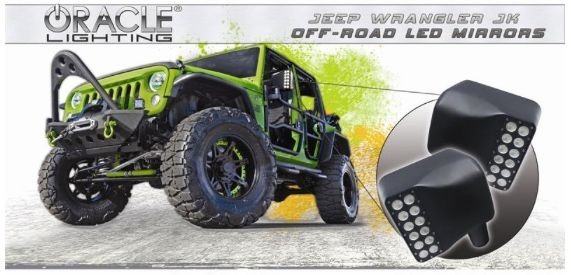 Oracle Off-Road Mirrors Jeep Wrangler JK 5751001