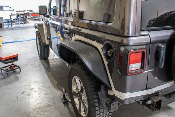 DV8 Jeep JL Wide Flat Fenders Set of 4 18-Present Wrangler JL DV8 Offroad