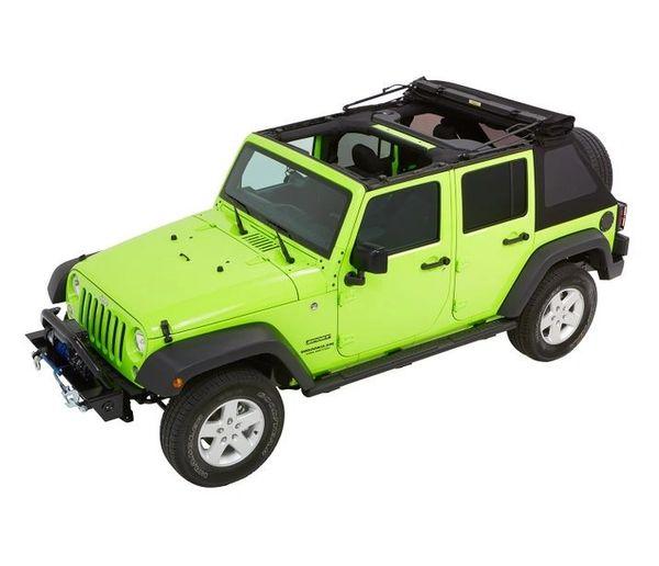 Bestop TREKTOP™ NX GLIDE™ CONVERTIBLE SOFT TOP 4-door Jeep Wrangler BLACK TWILL 5492317