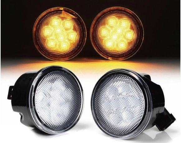 Smoke / Clear Lens Amber LED Turn Signal Light for 07-17 Jeep Wrangler