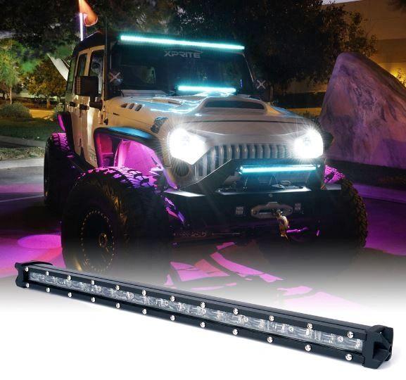"Aquatic Series 50"" single Row LED Light Bar with Blue Backlight"