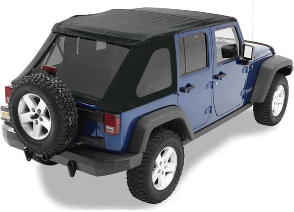 BESTOP SOFT TOP TINTED 07-17 WRANGLER UNLIMITED (NO DOORS INCL) TINTED WINDOWS SOFT TOP-BLACK DIAMOND 56823-35