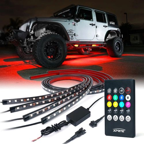 8 Color RGB LED Underbody Glow Kit