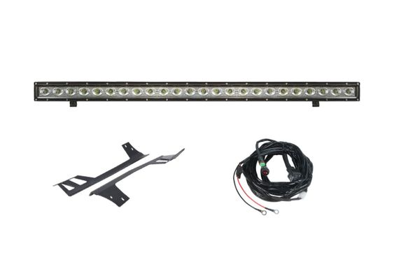 "50"" Light Bar Combo Single Row & Hyline Windshield Mounts 2007-2017 wrangler"