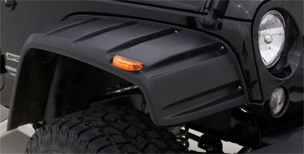 Rampage Products 58260640 Black Rivet Style, Textured Finish Fender Flare 2007-2018 Jeep Wrangler JK - Set of 4