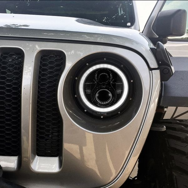 Quake 2018+ Jeep JL LED RGB Headlight with HD HALO and Turn Signal
