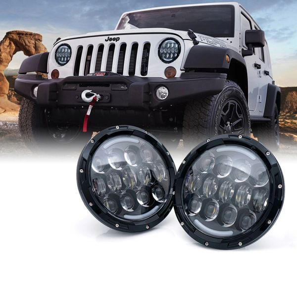 "7"" G6 CREE LED Headlights With DRL For 1997-2017 Jeep Wrangler"