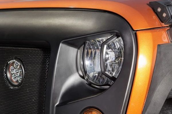RUGGED RIDGE ELITE HEADLIGHT GAURDS 07-16 WRANGLER 11230.12