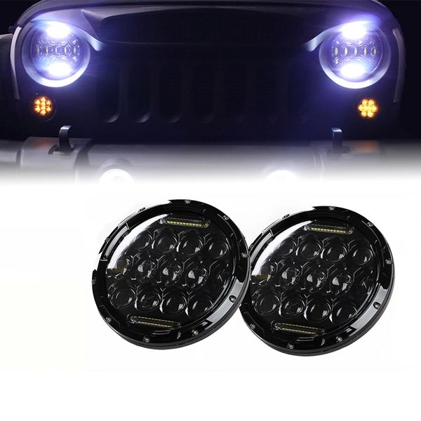 """7"""" 75W CREE LED Headlights With DRL For 1997-2017 Jeep Wrangler"""