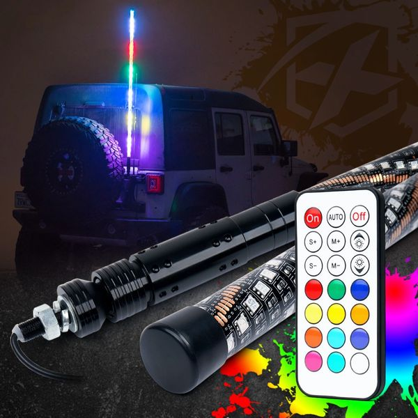 RGB LED Whip Light with Wireless Remote Control