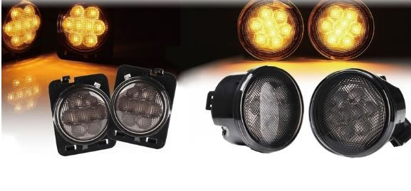 LED Turn Signal and Side Marker Combo Lights for 07-17 Jeep Wrangler