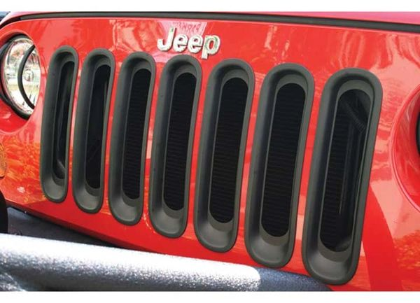 Rugged Ridge Grille Inserts Black or Chrome 07-16 Jeep Wrangler JK 11306.30 11306.20