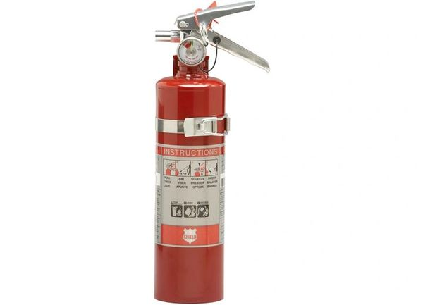 Automotive fire extinguisher SINGLE USE 2.5 LB. 1A:10BC FIRE EXTINGUISHER W/VEHICLE