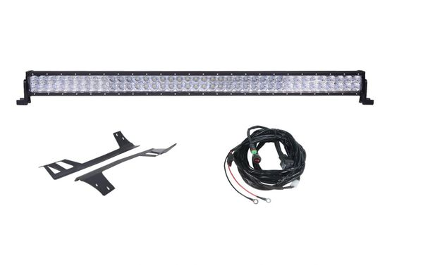 "50"" Light Bar Combo Double Row & Hyline Windshield Mounts 2007-2017 Wrangler"