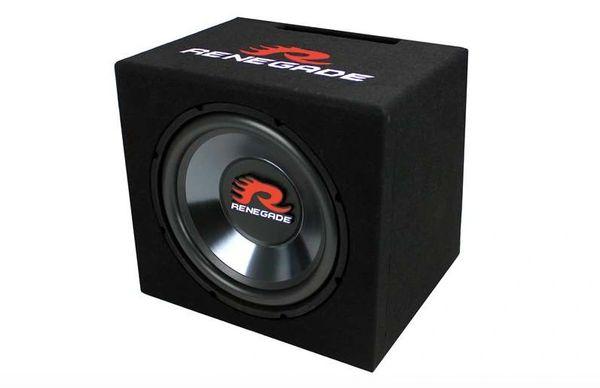 "RENEGADE RXV1200 12"" 600 WATT SINGLE CAR AUDIO SUBWOOFER WITH ENCLOSURE RXV1200"