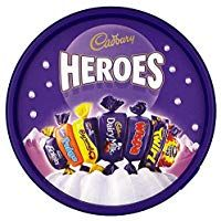 Heroes assorted Choc bars in tub