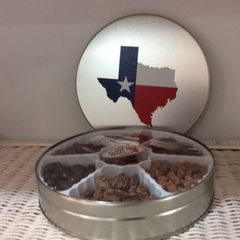 Round Texas Tin of Treats
