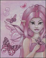 Peony Fairy with Bubbles
