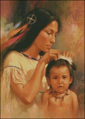 Indian Maiden and Child