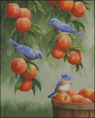 Bluebirds and Peaches