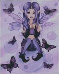 Purple Fairy with Bubbles