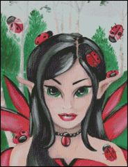 Fairy with Ladybug Friends