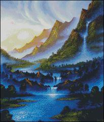 Blue River Dawn