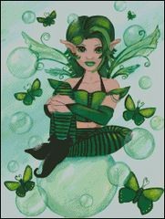 Green Fairy with Bubbles