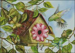 Hummingbird and House