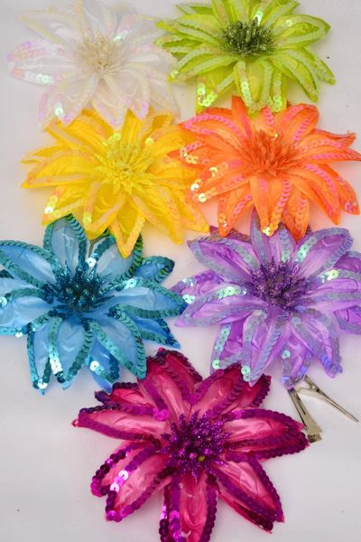 Jumbo silk flower hair clip sequins alligator clippin 6 jumbo silk flower hair clip sequins alligator clippin 6 citrus colors mightylinksfo
