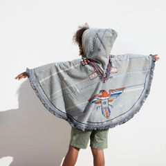 The Beach People Petite Roundie Poncho- Eagle