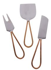 Almada Cheese Knife Set- Copper